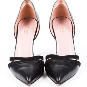 GUCCI leather Pointy heels